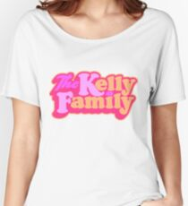 Kelly Family logo pink & yellow Women's Relaxed Fit T-Shirt