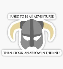 Skyrim Helmet - Arrow in the knee Sticker