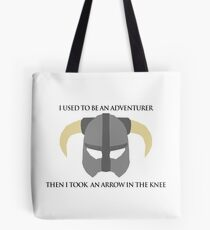 Skyrim Helmet - Arrow in the knee Tote Bag