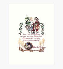 Dickens and Christmas Art Print