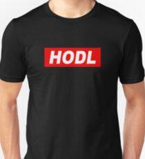 HODL Red Background Unisex T-Shirt