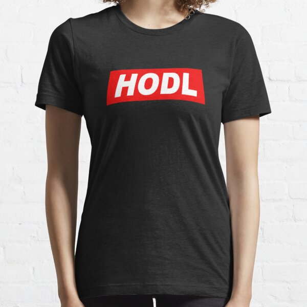 HODL Red Background Essential T-Shirt