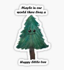 Happy Little tree- Bob ross Sticker