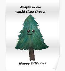 Happy Little tree- Bob ross Poster