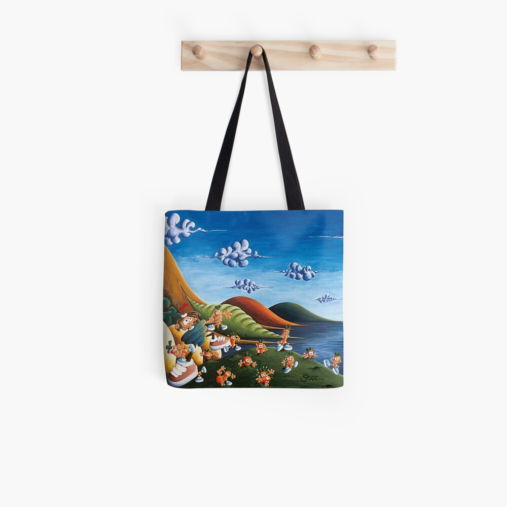 Tale of Carrots (cut) - Kids Art from Shee - Surreal Worlds Tote Bag
