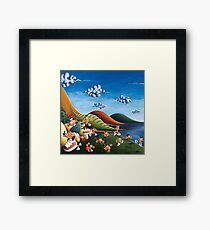 Tale of Carrots (cut) - Kids Art from Shee - Surreal Worlds Framed Print