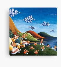 Tale of Carrots (cut) - Kids Art from Shee - Surreal Worlds Canvas Print