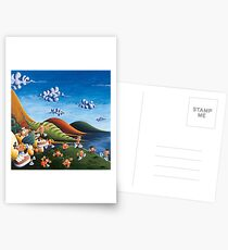 Tale of Carrots (cut) - Kids Art from Shee - Surreal Worlds Postcards