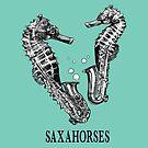 Saxahorses, Saxophone + Sea Horse Hybrid Animal by Jessie Fox - Whatif Creations