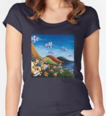 Tale of Carrots (cut) - Kids Art from Shee - Surreal Worlds Women's Fitted Scoop T-Shirt