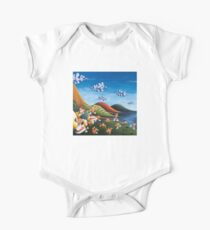 Tale of Carrots (cut) - Kids Art from Shee - Surreal Worlds Short Sleeve Baby One-Piece