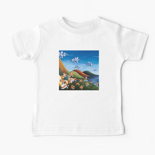 Tale of Carrots (cut) - Kids Art from Shee - Surreal Worlds Baby T-Shirt