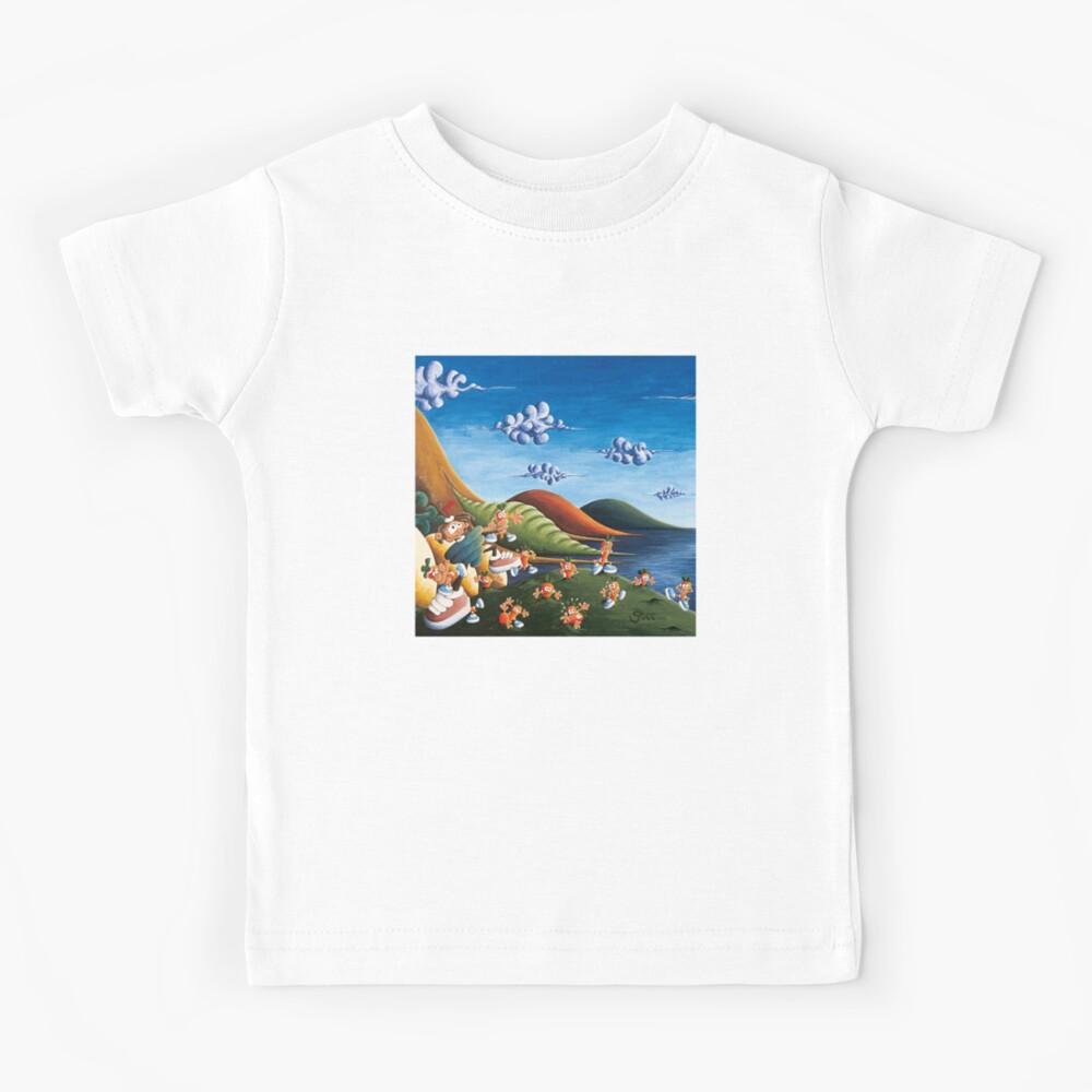 Tale of Carrots (cut) - Kids Art from Shee - Surreal Worlds Kids T-Shirt