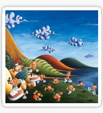 Tale of Carrots (cut) - Kids Art from Shee - Surreal Worlds Sticker