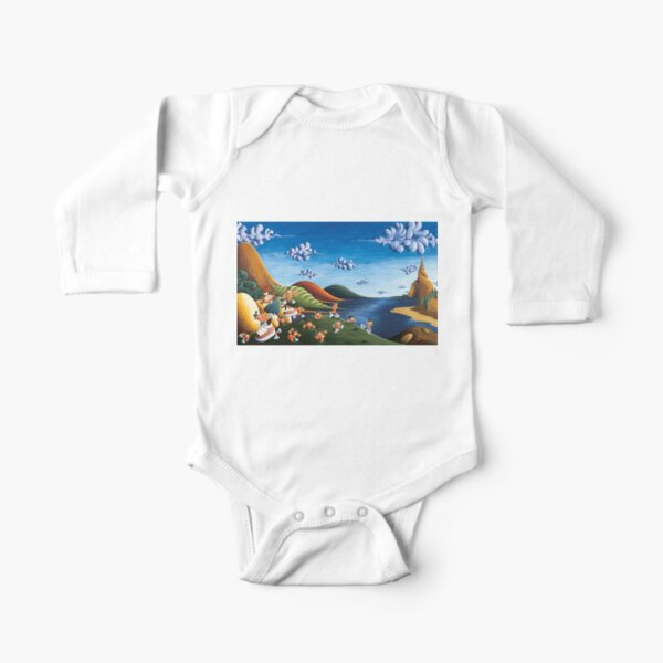 Tale of Carrots - Original Art from Shee - Surreal Worlds Long Sleeve Baby One-Piece