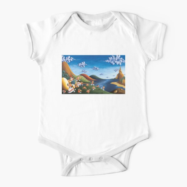 Tale of Carrots - Original Art from Shee - Surreal Worlds Short Sleeve Baby One-Piece