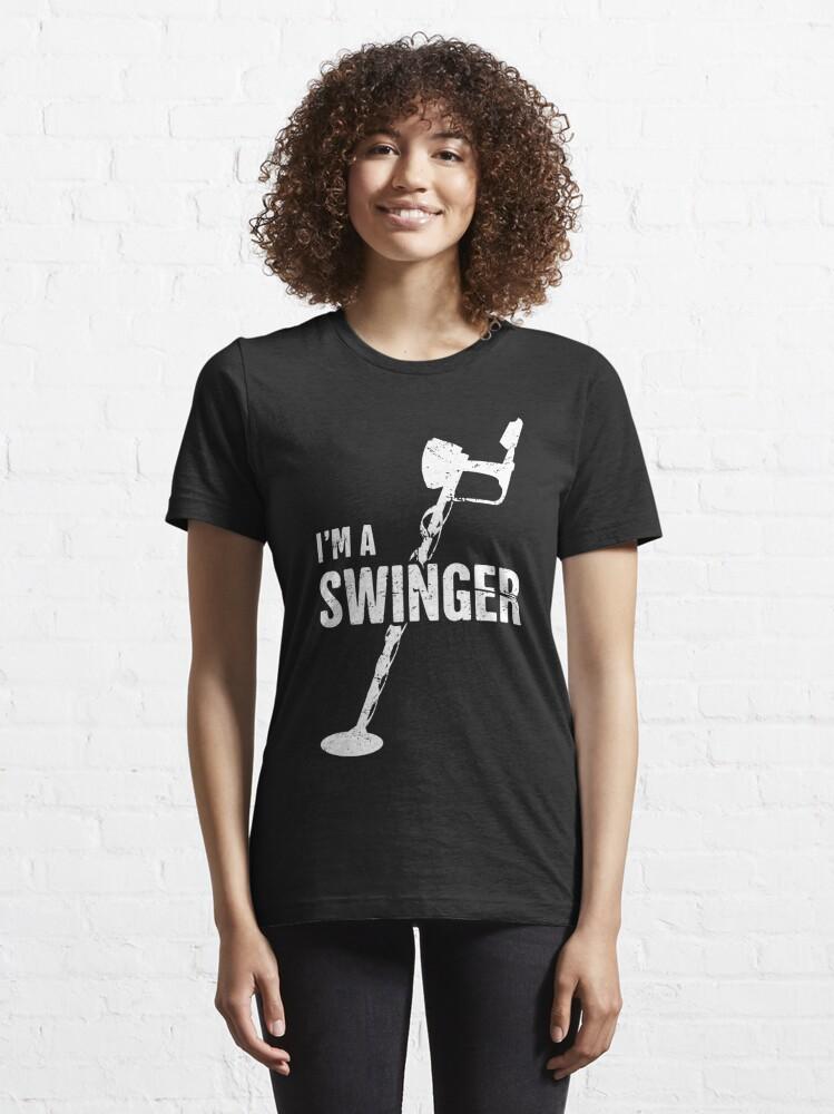 Alternate view of Swinger | Funny Metal Detecting Essential T-Shirt