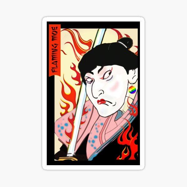 Flaming Moe. Sticker