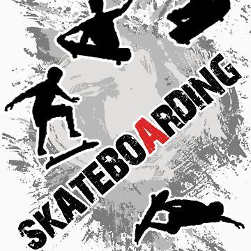 Cool T-shirt Skateboarding by nagudz