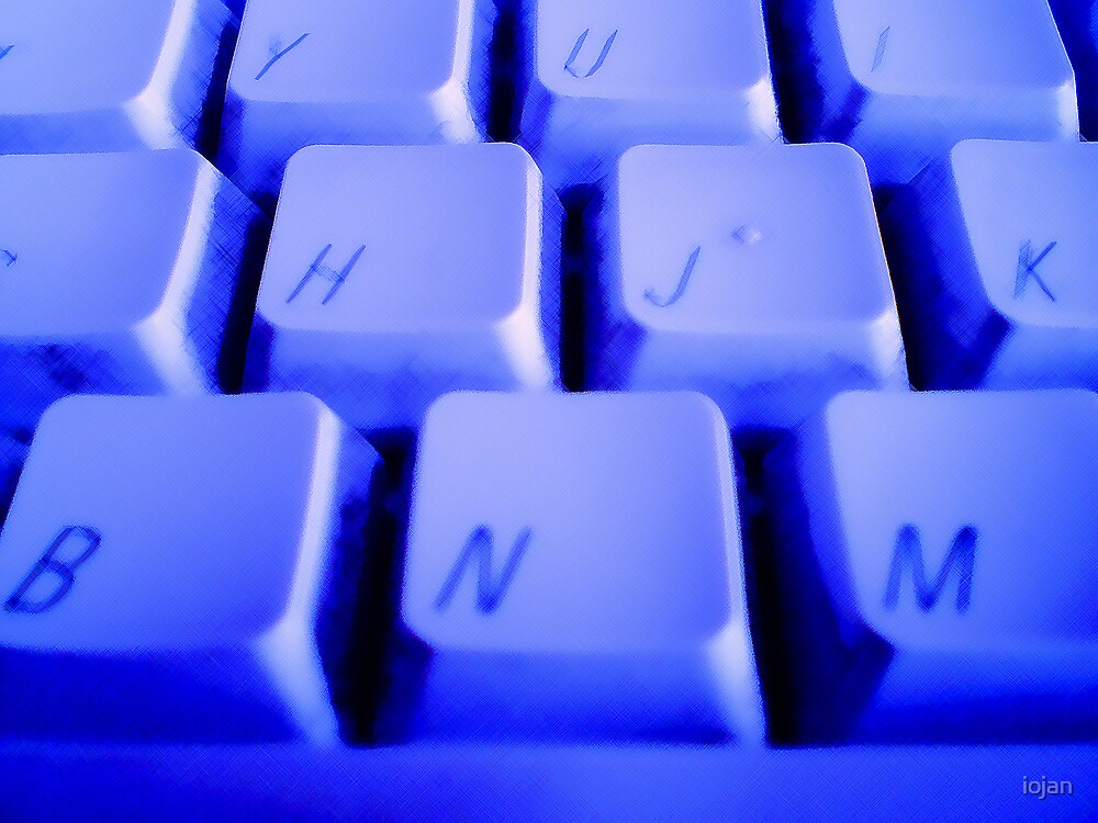 Blue Keyboard by iojan