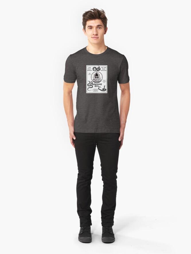 Alternate view of Saint Bigfoot Snake Oil Slim Fit T-Shirt