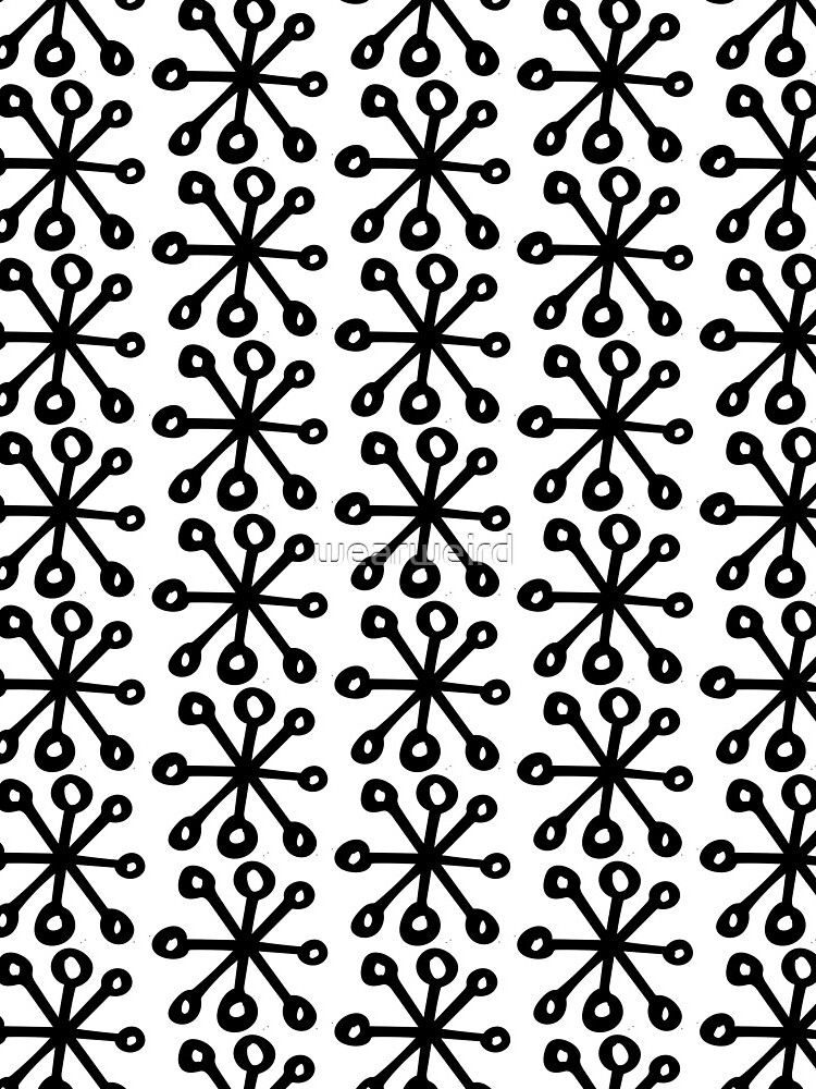 Black and White Snowflake by wearweird