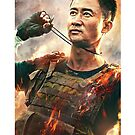 Wu Jing Wolf Warrior 2 Poster by bammydfbb