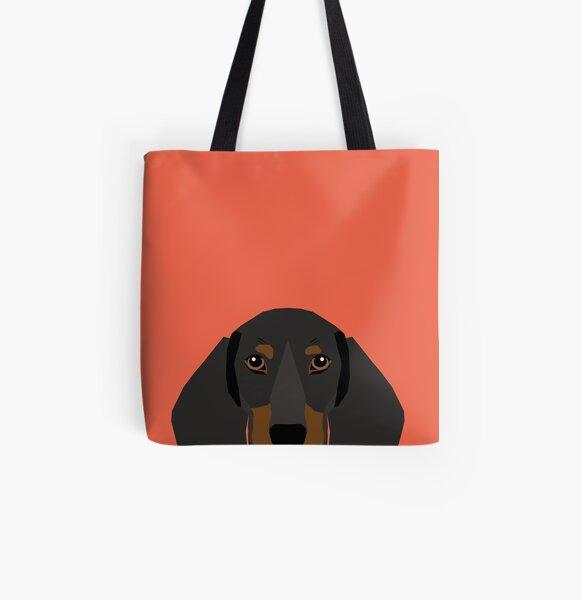 Set of 2 Dachshund florals flower pet portrait dog art Luggage Tags Suitcase Labels Bag Travel Accessories