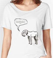 GoodThoughtsElephant no5 of series Women's Relaxed Fit T-Shirt