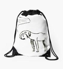 GoodThoughtsElephant no5 of series Drawstring Bag