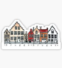 Brügge Belgien Kunst Sticker