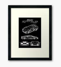 Lamborghini Aventador Patent White Framed Print