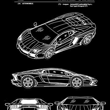 Lamborghini Aventador Patent White by Vesaints