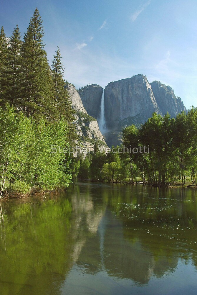 Yosemite Falls Spring Reflections by Stephen Vecchiotti