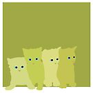 Parsley, Sage, Rosemary and Thyme Kittens by olivehue