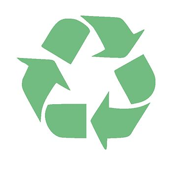 Recycle Symbol, Distressed Earth Day Environment Gift by stevesemojis