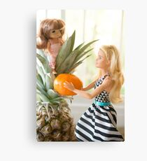 Barbie doll and baby doll Canvas Print