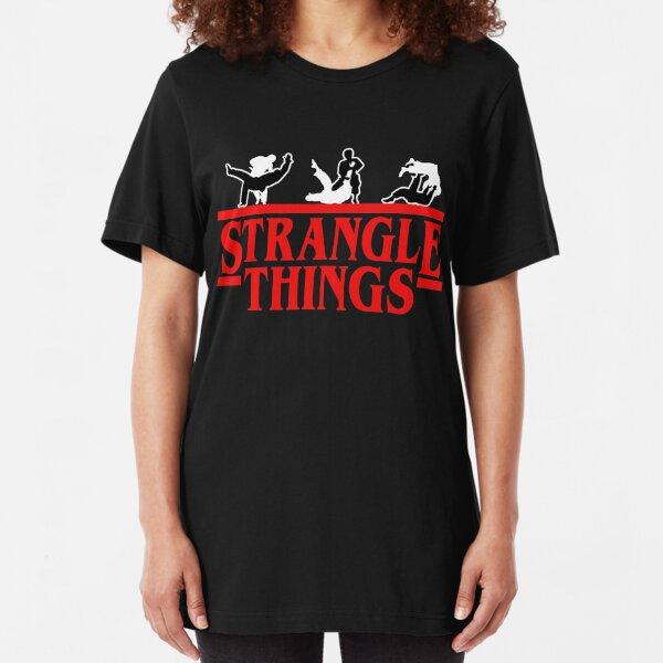 Strangle Things | brazilian jiu jitsu | jiu jitsu apparel | jujitsu shirts | bjj | bjj shirt | bjj gift | martial arts shirt | mma shirt Slim Fit T-Shirt