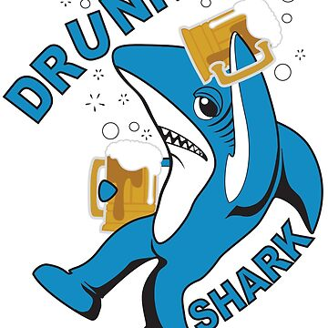 Drunk Shark - Left Shark by Amznfx