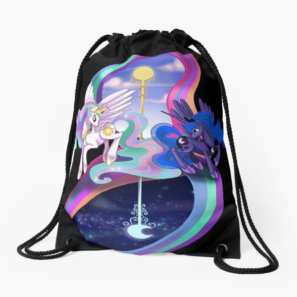 Sun and Moon Sisters- MLP Drawstring Bag