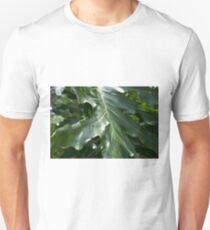 Tropical lush large palm leaf close up Unisex T-Shirt