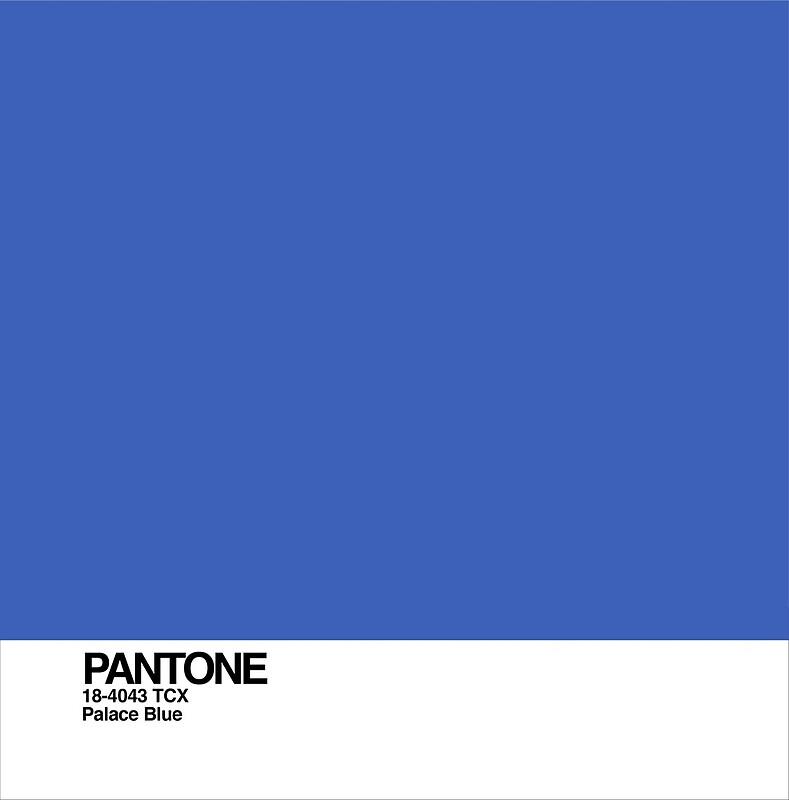 ผลการค้นหารูปภาพสำหรับ Palace Blue : PANTONE 18-4043