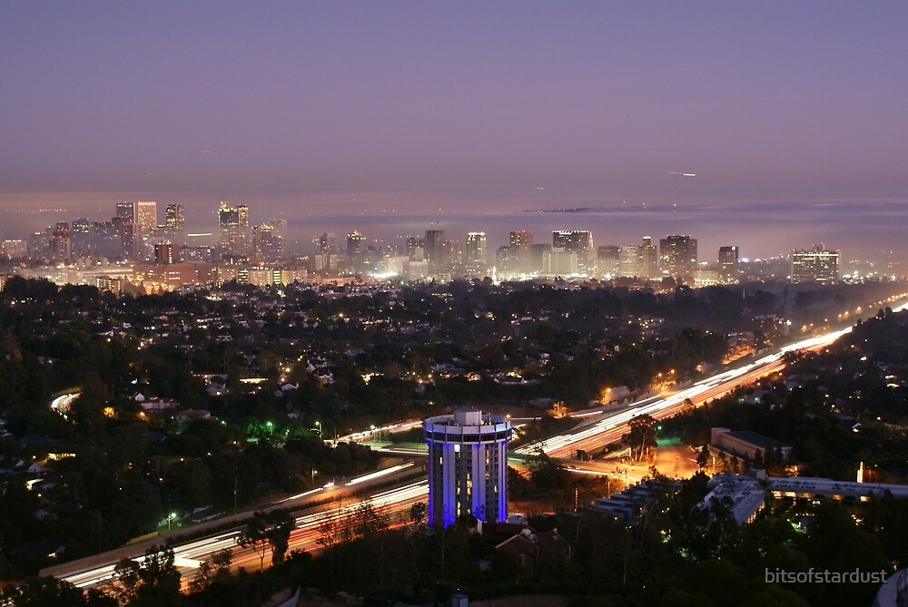 View of Wilshire blvd in Santa Monica CA taken from the Getty Museum by bitsofstardust