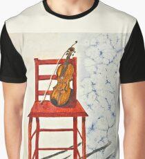 Violin in Repose Watercolor Graphic T-Shirt