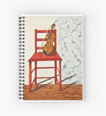 Violin in Repose Watercolor Spiral Notebook