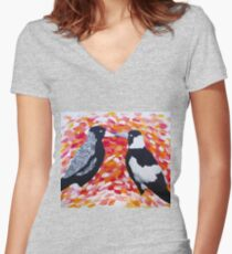 Love in the Air Women's Fitted V-Neck T-Shirt