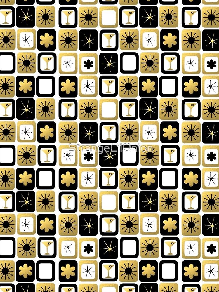 Retro Glamorous Gold Pattern by StrangeLilOnion