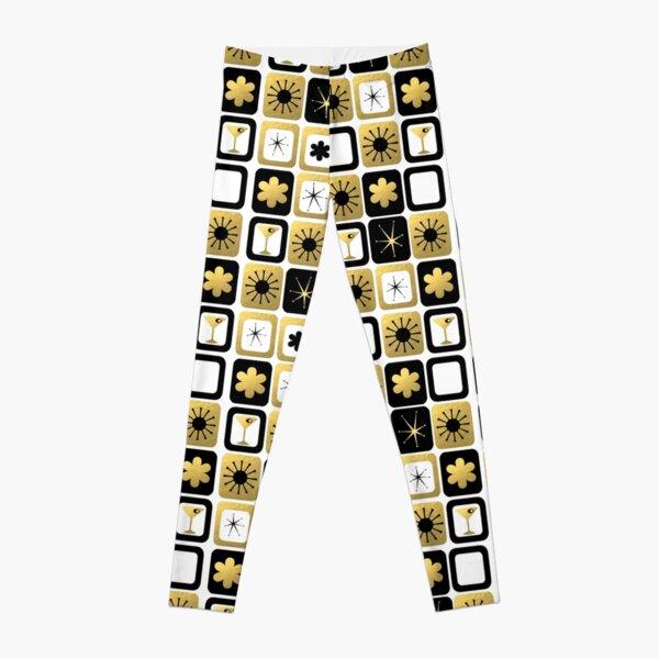 Retro Glamorous Gold Pattern Leggings