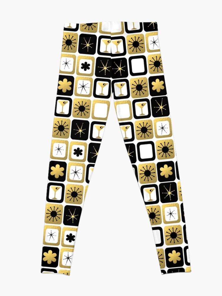 Alternate view of Retro Glamorous Gold Pattern Leggings