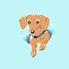 Pocket Puppy Blue aqua by Bloomin'  Arty Families